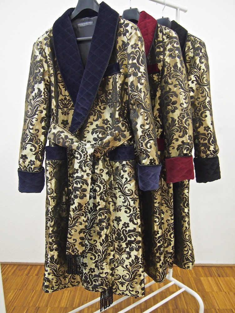 Men's silk dressing gowns and luxury quilted robes